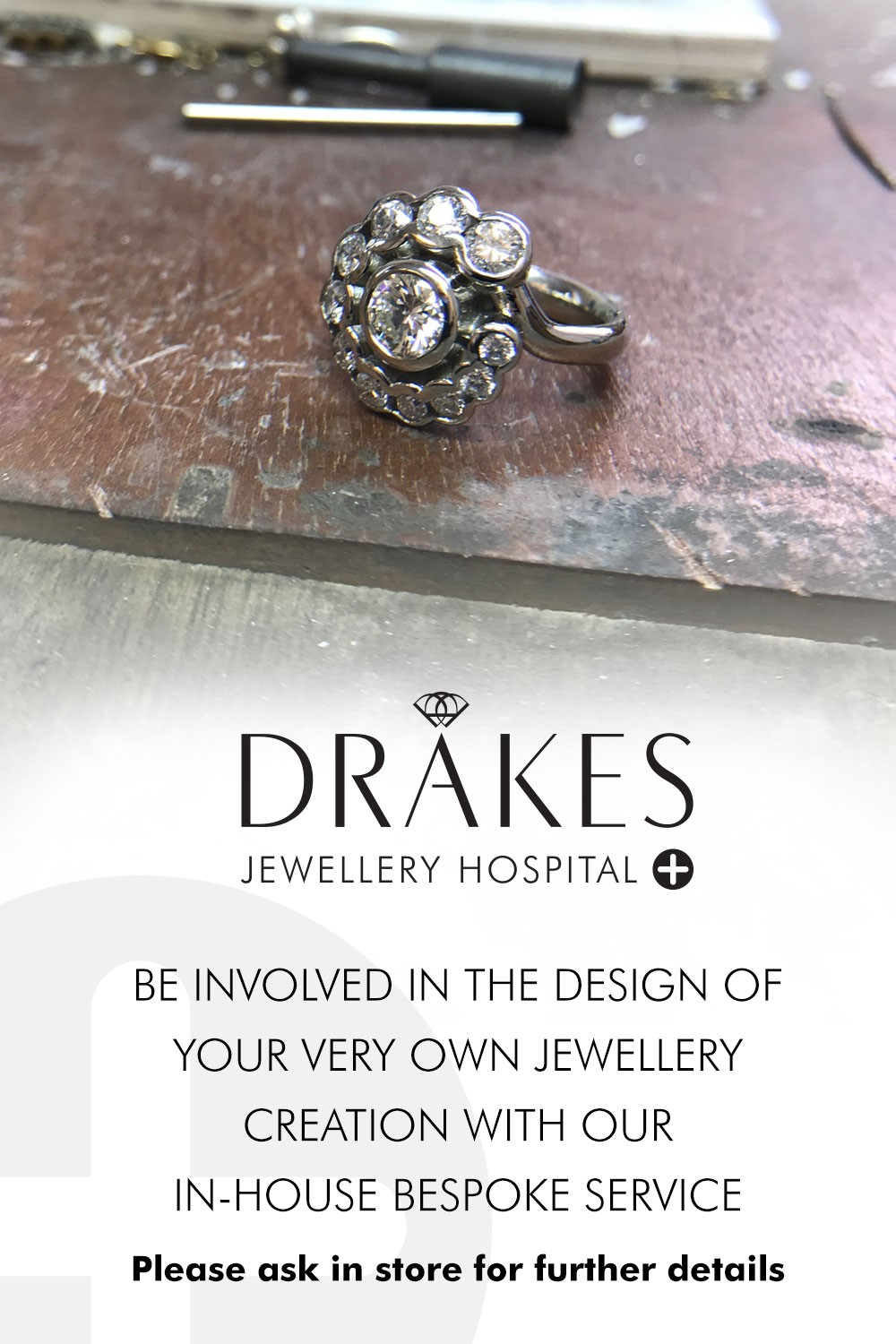 Bespoke Jewellery, Drakes Jewellers, Plymouth, Drakes Jewellery Hospital