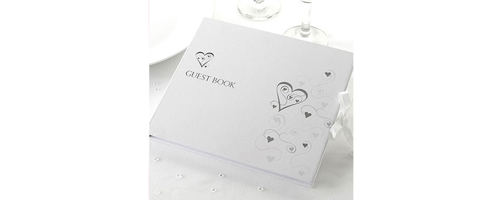 Wedding Guest Book, Drakes Jewellers, Plymouth, South West
