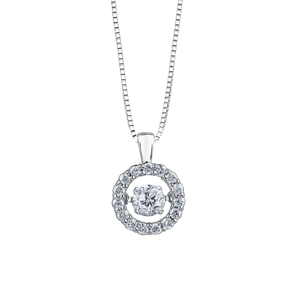 9ct White Gold Pendant, Diamond Necklace, Drakes Jewellers Plymouth, South West Jewellers