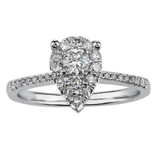 drakes jewellers engagement white gold diamond ring pear shape vintage ring