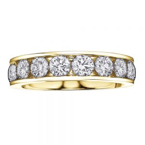 Yellow Gold, Diamond Eternity Ring, Love, Drakes Jewellers Plymouth, Ring, Drakes, Plymouth