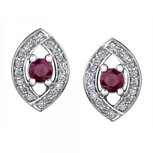 White Gold Diamond and Ruby Earrings, Love, Earrings, Ruby, White Gold Earrings, Ruby Earrings, Drakes Group Plymouth