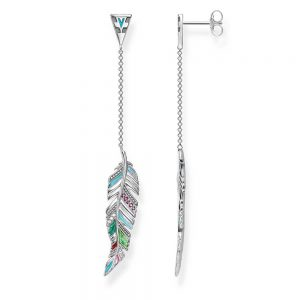 drakes jewellers plymouth feather dangle earrings