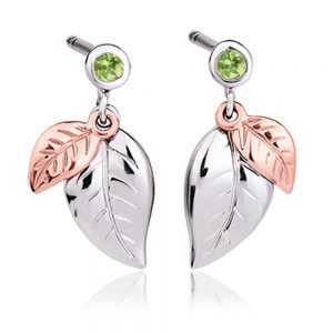drakes jewellers plymouth clogau earrings drop leaf