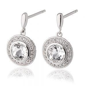 drakes jewellers plymouth clogau earrings silver sparkle round
