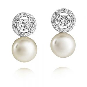 drakes jewellers plymouth jersey pearl Earrings