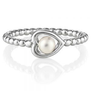 drakes jewellers plymouth jersey pearl heart ring