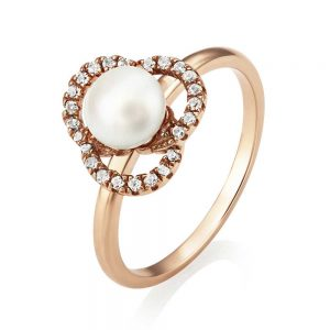 drakes jewellers plymouth jersey pearl rose gold ring