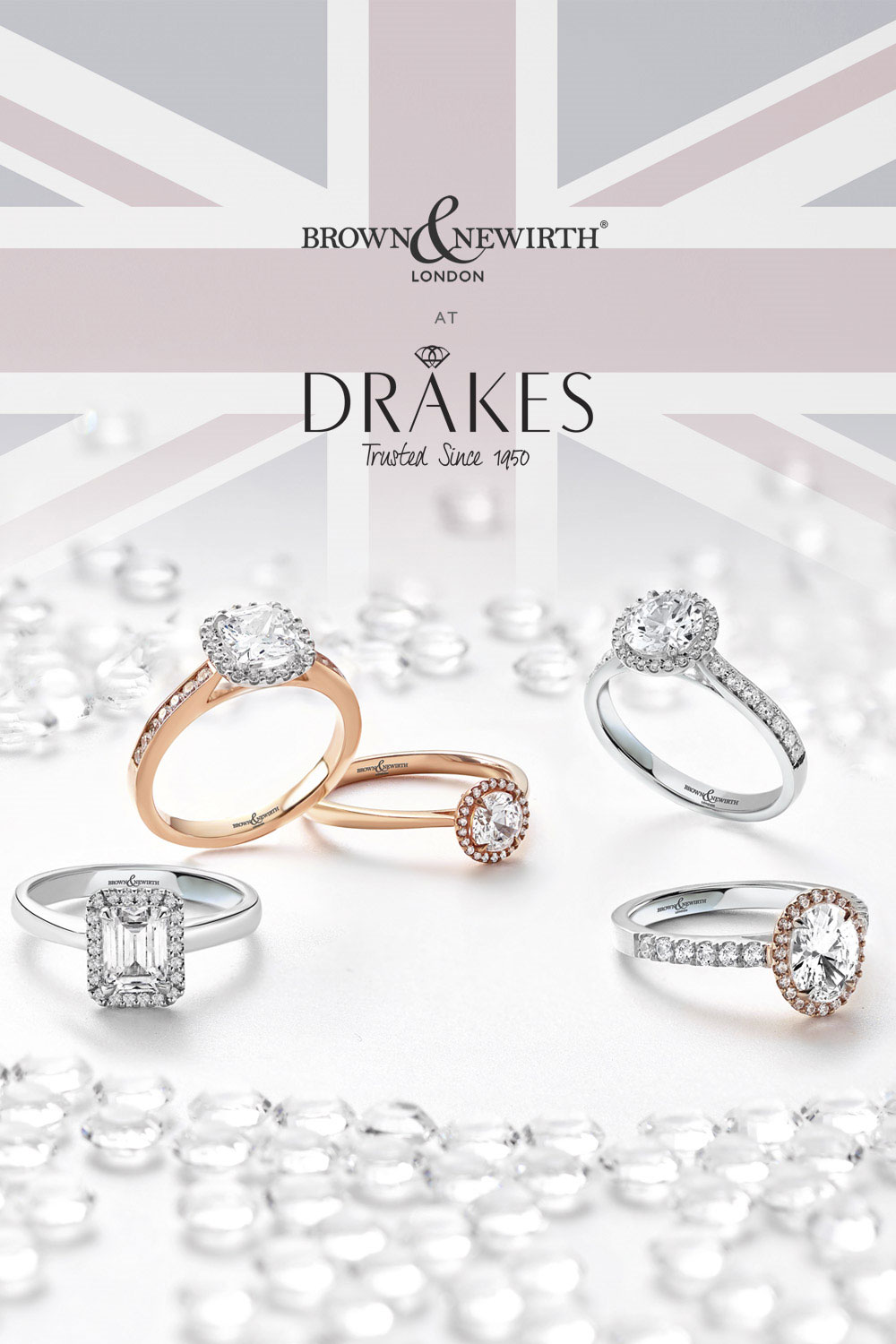Brown and Newirth Engagement Rings, Love, Engagement, Engagement Rings, B&N, Drakes Jewellers Plymouth