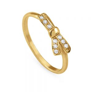nomination mycheire yllow gold plated bow ring