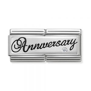 drakes jewellers plymouth nomination silver double anniversary charm