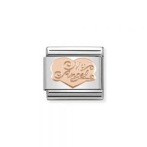 drakes jewellers plymouth nomination classic rose gold plated charm my angel
