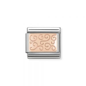 drakes jewellers plymouth nomination rose gold plated swirl