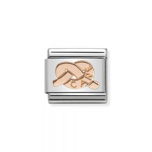 Knot Rose Gold Plated Charm care