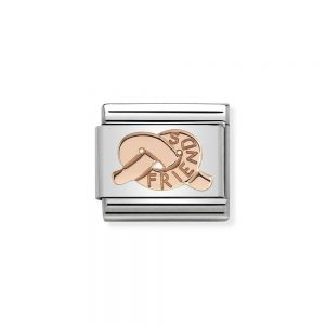 Knot Rose Gold Plated Charm friends