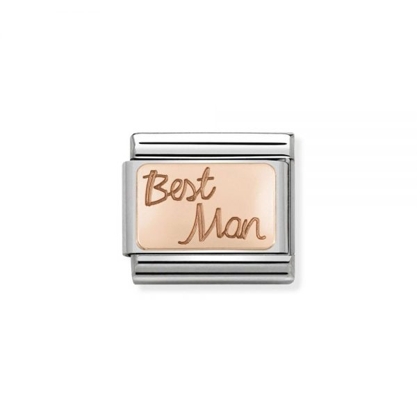 drakes jewellers plymouth nomination best man rose gold plated charm