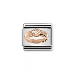 drakes jewellers plymouth nomination rose gold plated ring