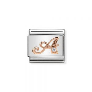 Rose Gold Plated Charm drakes jewellers plymouth nomination letter charm a