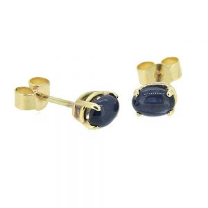 Bates, Yellow Gold, Earrings, Sapphire Earrings, Love, Drakes Jewellers Plymouth