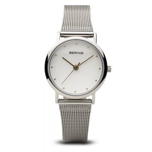 drakes jewellers plymouth bering watches silver mesh white face