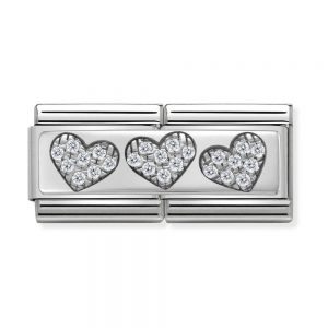 drakes jewellers plymouth nomination triple heart double silve