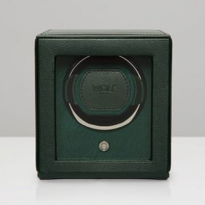 Cub Green Watch WInder and Cover, Cub Green Watch Winder, Watch Winder, Cub Watch Winder, Wolf Watch Winder, Wolf Cub Watch Winder, Drakes Jewellers, Watch Accessories