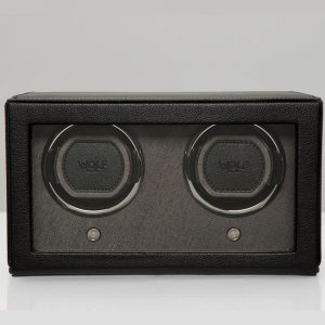 Double Watch Winder, Cub DOuble Watch WInder, Cub Black Double Watch Winder, Wolf Double Watch Winder, Drakes Jewellers, Wolf, Watch Accessories, Watch Winders