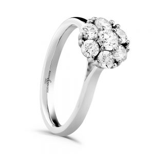 Diamond Cluster Engagement Ring, Drakes Jewellers, Plymouth, engagement