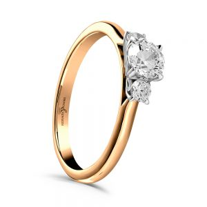 Trilogy Engagement Ring, Drakes Jewellers, Plymouth