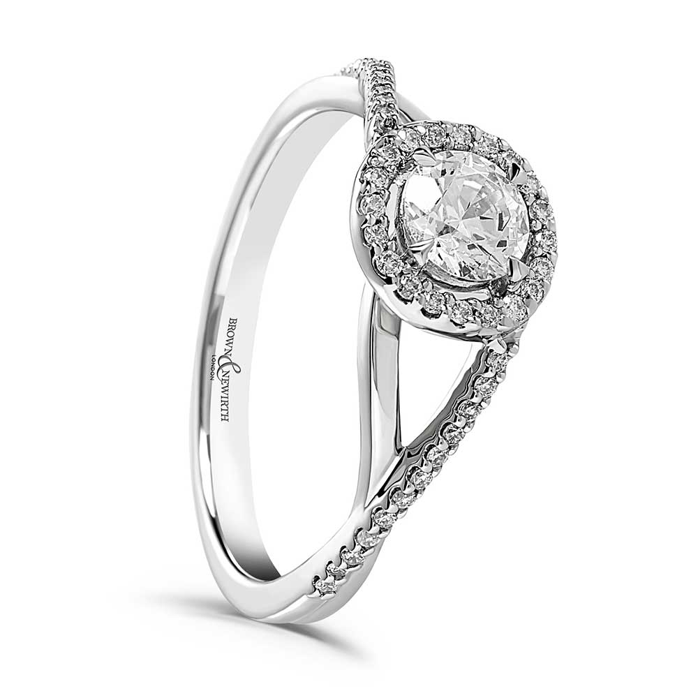 Unique Engagement Ring, Diamond Ring, Drakes Jewellers, Plymouth