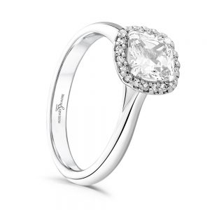 Cushion Cut Engagement Ring, Drakes Jewellers, Plymouth, Diamond Engagement Ring