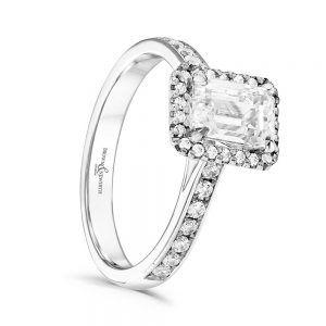 Emerald Cut Diamond Ring, Drakes Jewellers, Plymouth Jewellers, Diamond Engagement Rings, White Gold Engagement Rings