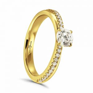 Brown and Newirth Diamond Ring, Drakes Jewellers, Engagement Ring Collection, Drakes Jewellers, Plymouth
