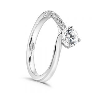 Solitaire engagement Ring, Drakes Jewellers, Plymouth