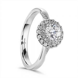 Diamond Ring, Halo Engagement Ring, Drakes Jewellers