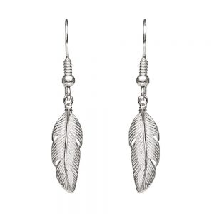 Annie Haak, Feather Silver Earrings, Silver Drop Earrings, Feather Silver Earrings, Drakes Jewellers