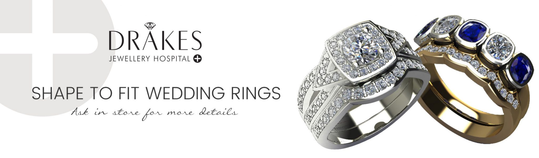 Shape to fit wedding rings, Drakes Jewellery Hospital, Drakes Jewellers