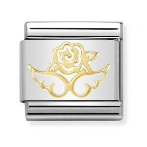 Drakes Jewellers Plymouth, Nomination Jewellery, Nomination Charm Women jewellery, Gift For Her, yellow gold nature angel charm