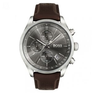 Drakes Jewellers Plymouth, Hugo Boss Watches, Mens Watches, Gifts For Him, brown leather silver watch