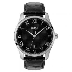 Drakes Jewellers Plymouth, Hugo Boss Watches, Mens Watches, Gifts For Him, all black leather watch