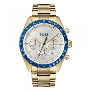 Drakes Jewellers Plymouth, Hugo Boss Watches, Mens Watches, Gifts For Him, yellow gold blue trim watch