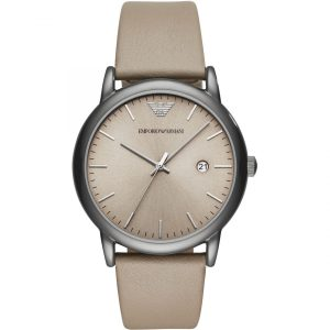 Drakes Jewellers Plymouth, emporia Armani watches, mens armani watches, beige leather watch