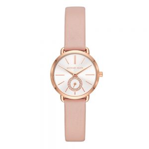 Drakes Jewellers Plymouth, Michael Kors Watches, Women's Watches, Gift For Her, portia pink leather
