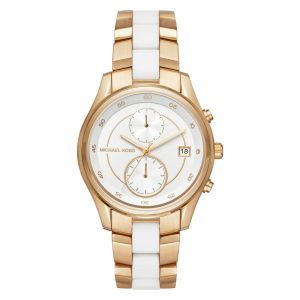 Drakes Jewellers Plymouth, Michael Kors Watches, Women's Watches, Gift For Her, yellow gold white watch