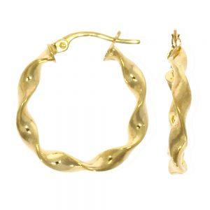 Drakes Jewellers Plymouth, Links of London jewellery, Womens jewellery, Gifts For Her, yellow gold small twist hoop earrings