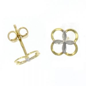 Drakes Jewellers Plymouth, Links of London jewellery, Womens jewellery, Gifts For Her, yellow and white gold circle studs