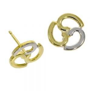 Drakes Jewellers Plymouth, Links of London jewellery, Womens jewellery, Gifts For Her, yellow and white gold stud earrings
