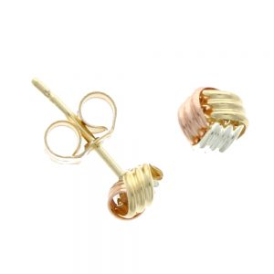 Drakes Jewellers Plymouth, Links of London jewellery, Womens jewellery, Gifts For Her, 9ct mixed gold knot earrings