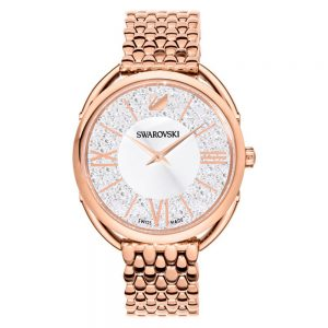 Drakes Jewellers Plymouth, Swarovski, Crystaline rose gold bracelet watch