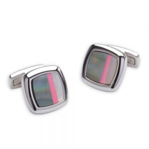 Drakes Jewellers Plymouth, Duncan Walton, Sculptor Grey and Pink cufflink